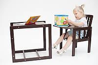 Дитячий стільчик для годування «Малятко» шоколад