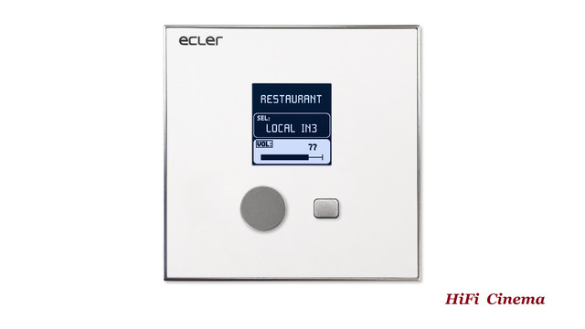 Ecler eMCONTROL1 in Wall Remote Controler front