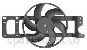 Вентилятор радиатора Dacia Logan без А/С фаза1 (Thermotec D8R008TT)(среднее качество)