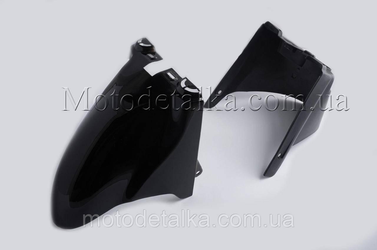 Пластик Zongshen WIND переднє крило (чорний) .