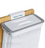 Держатель для мусорных пакетов навесной Attach-A-Trash с крышкой, фото 4