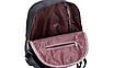 Рюкзак женский кожзам с заклепками однотонный Черный, фото 7
