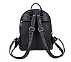 Рюкзак женский кожзам с заклепками однотонный Черный, фото 6