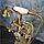 Стойка напольная со смесителем в цвете золота 8-007, фото 3