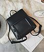 Рюкзак трансформер женский кожзам сумка Cool Черный, фото 2