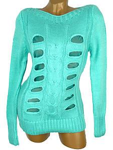Модный свитер с разрезами 42-44