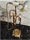 Стойка напольная в цвете золота с элементами керамики 8-009, фото 2