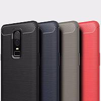 Защитный чехол iPaky Slim с карбоновыми вставками для OnePlus 6 (выбор цвета)