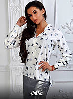 Женская рубашка с бабочками
