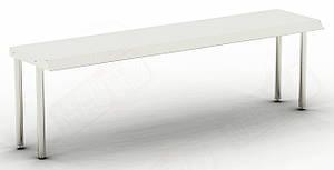 Полка-надстройка  1-но уровневая (нерж) S1- 1000