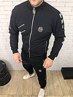 Мужской спортивный костюм Philipp Plein молнии ( Реплика ААА+)