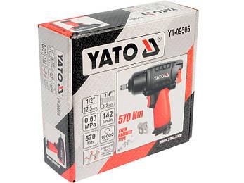 Ударный пневматический гайковерт Yato YT-09505, фото 2