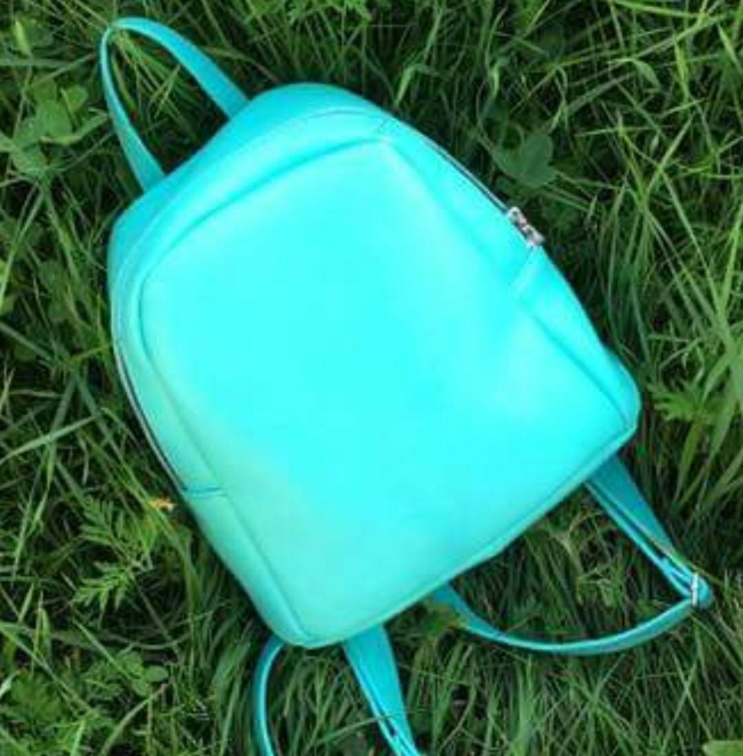 Стильный женский рюкзак маленький бирюзовый -ментол эко-кожа ЕСТЬ РАЗНЫЕ ЦВЕТА
