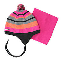 Зимний комплект: шапочка + манишка на девочек 3-9 лет (Р.: 3/5, 6/8) ТМ Peluche&Tartine 54 EF ACC F1