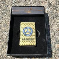 Электроимпульсная зажигалка usb Mercedes, фото 1