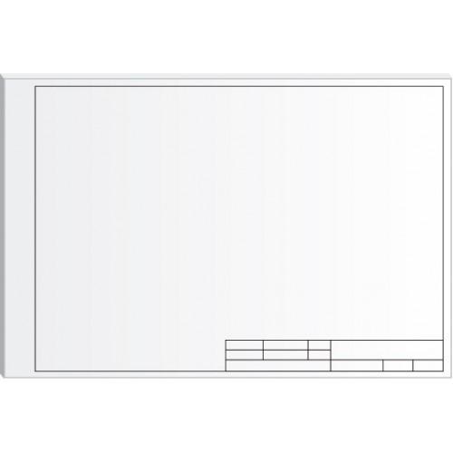 Бумага для черчения с горизонтальной рамкой A4 Офорт