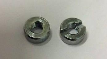 Нержавіюча гайка М3 кругла зі шліцом на торці DIN 546 (ГОСТ 10657-80), фото 2