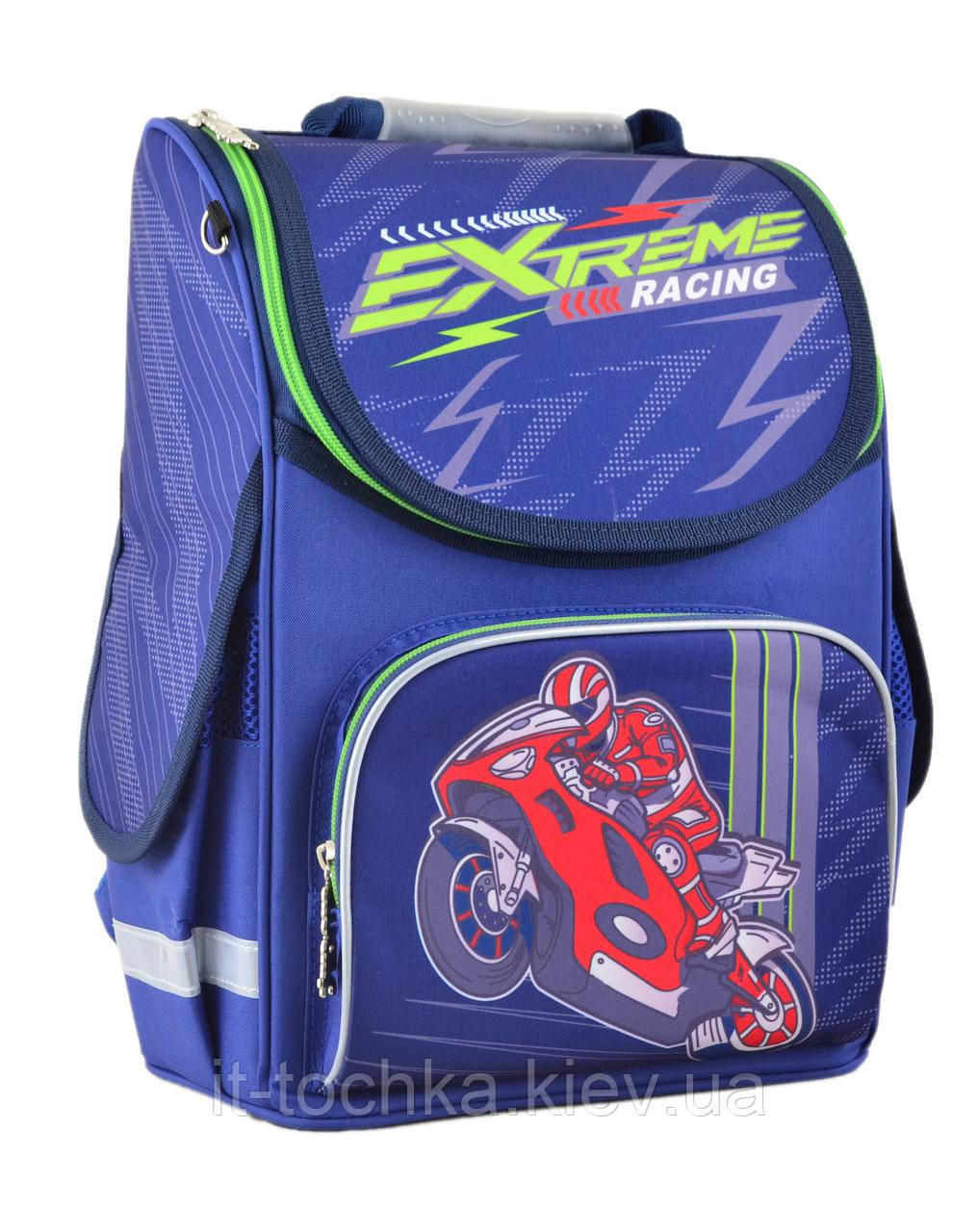 Рюкзак школьный каркасный smart pg-11 extreme racing, 34*26*14