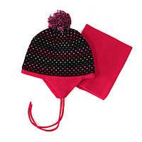 Зимний комплект: шапочка + манишка на девочек 3-9 лет (Р.: 3/5, 6/8) ТМ Peluche&Tartine 58 EF ACC F16