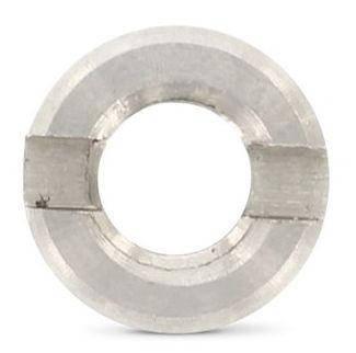Нержавіюча гайка М10 кругла зі шліцом на торці DIN 546 (ГОСТ 10657-80), фото 2