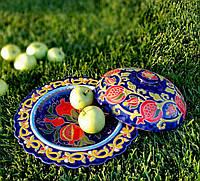 Тарелка для подачи d 24 см. Риштан, Узбекистан