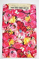 Набор из 2-х ковриков фотопринт (Розовые цветы) 80*50 см и 40*50 см (с вырезом)