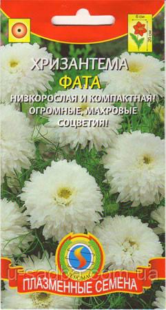 Семена цветов  Хризантема Фата 0,05 г белые (Плазменные семена)