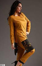 Новинка сезона! костюм женский брючный ярко-оранжевый, размеры:50,52,54, фото 3