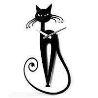 Эксклюзивные настенные часы металлические Glozis-A-001 Elegant Элегант черные (56х33см) [Металл, Открытые, Цвета]