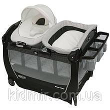Манеж кровать-манеж с переносной колыбелью Graco Snuggle Suite LX Pierce