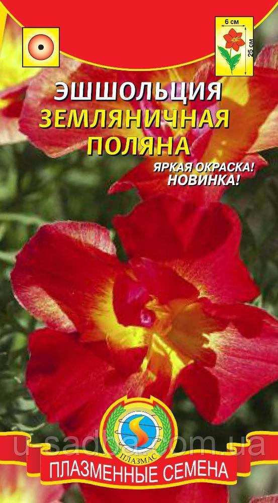 Семена цветов  Эшшольция Земляничная поляна 0,03 г красные (Плазменные семена)