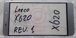 Скло корпусу LeEco (Letv) Le 2 / X620 glass lens Rev 1 для переклейки модуля сірого кольору