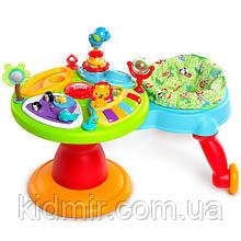 Игровой развивающий центр с ходунками и столиком Зоопарк  Bright Starts