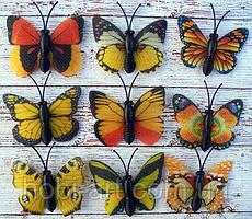 Метелик 3см жовтий (на вибір продавця)