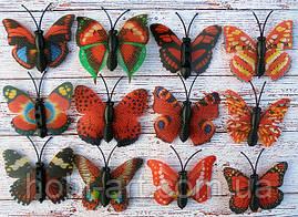 Метелик 3см червоний (на вибір продавця)