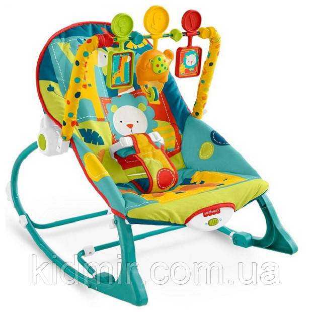 Дитяче крісло качалка шезлонг Сафарі Fisher Price Dark Safari