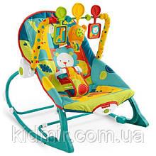 Детское массажное кресло качалка, шезлонг Сафари Fisher Price Dark Safari