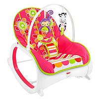 Кресло качалка шезлонг Цветочные конфетти Fisher-Price Toddler Rocker