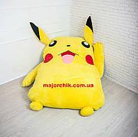 Детская мягкая кровать игрушка Пикачу