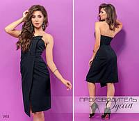 Платье облегающее открытые плечи креп-костюмка 42,44,46, фото 1