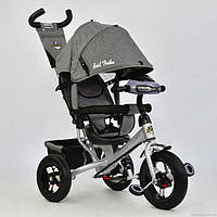Детский трехколесный велосипед Best Trike 6588В Фара + резина Серый Лен NEW