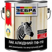 Лак алкидный ПФ-110 (глянцевый) ЗЕБРА, 2.5 л