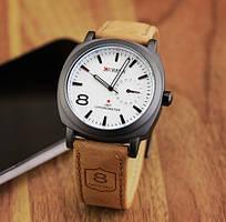 Мужские часы Curren в стиле милитари белый циферблат