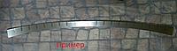 Накладка на бампер с загибом Mitsubishi Outlander III  2012-2015  Double