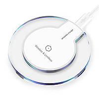 Зарядное устройство FANTASY K9 Беспроводная QI зарядка для iPhone, Samsung 10W Белая (SUN0166)