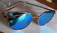 Очки солнцезащитные  голубые от студии LadyStyle.Biz, фото 1