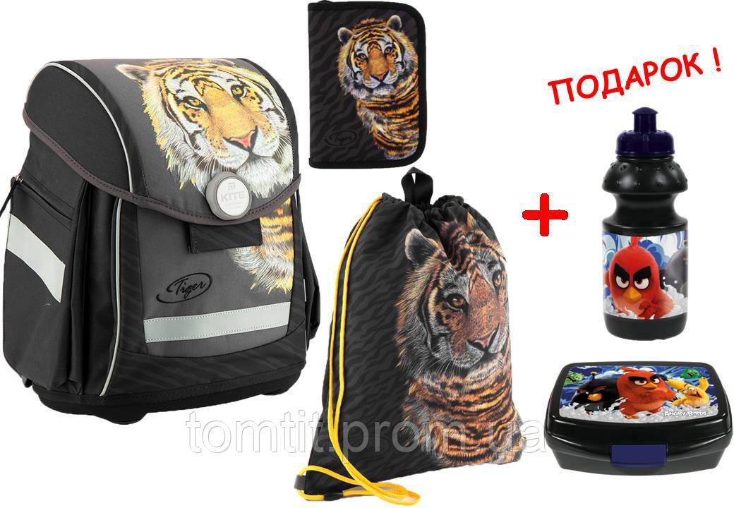 abf269ca8d72 Комплект. Рюкзак школьный каркасный Tiger K18-578S-2 + пенал + сумка ...