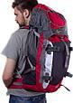 Рюкзак туристический Onepolar W1702-red красный 45 л, фото 2