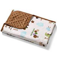 Двустороннее одеяло с микрофибры Пузырьки Коричневое BabyOno 1404