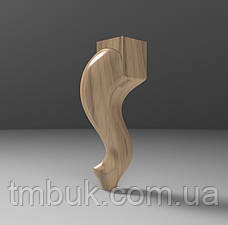 Ножка гнутая для кровати, тумбы, деревянной, мягкой мебели. Опора кабриоль гладкая. 200 мм топ, фото 2
